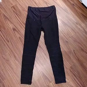 H&M MAMA Black Skinny MATERNITY Pants Sz 12